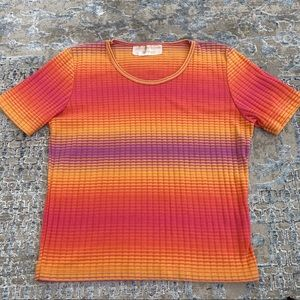 VTG 70s Hans loomed rainbow T-shirt